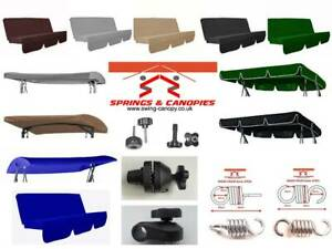 Garden swing Spare parts replacement canopy cushion fittings springs & Canopies