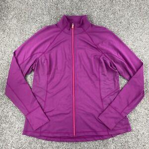 Tek Gear Womens Athletic Training Jacket W/DryTek Full Zip Purple Size 1X