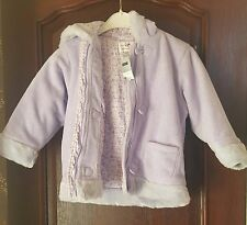 Next - Lilac Padded, Hooded, Fleece Coat - Brand New! - Age 4-5