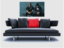 "Krept & Konan sin bordes de azulejo mosaico Pared Poster 35 ""X 25"" Hip Hop Raperas K&K"