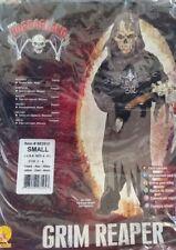 GRIM REAPER DEMON Boys Halloween Fancy Dress Kids Horror Devil Costume -S