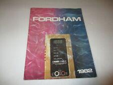 Fordham Radio Supply catalog (1982) vintage electronics