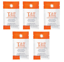 Bundle of 20 Tan Towel Self-Tan Towelette Single Application Packets Face Body