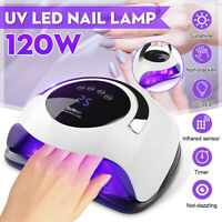 120W Nail Lamp LED UV Light Gel Polish Nail Dryer Manicure Curing Machine Tool