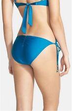 PILYQ 'Tourmaline' Side Tie Bikini Bottoms ONLY Blue Size Small
