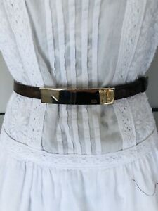 Escada Brown Leather Waist  Belt Size 44 BNWT