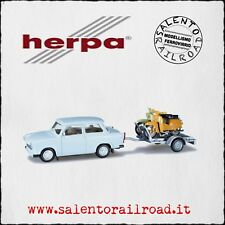 HERPA 027502 CAR Trabant with cart and two moto - 1/87