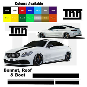 Racing Stripe Decal Stickers For Mercedes Benz AMG Edition 1 C63 Coupe W205 C200