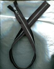 26 inch Black & Aluminum Metal #5 Separating YKK Zipper New!