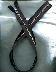 26 inch Black & Aluminum Metal #5 Separating YKK Zipper New!