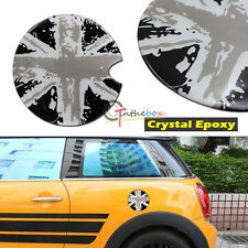 1x Black Union Jack 3D Crystal Epoxy Sticker Decal For Mini Cooper Gas Cap Cover