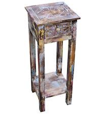 KMH® Telefontisch Telefonkonsole Blumentisch Beistelltisch Tisch Holz Shabby