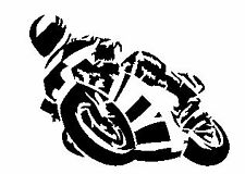 Motorbike Leaning Vinyl Decal Sticker for Car/Window/Wall