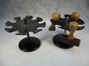 Art Deco Stempel Karussell Fa. Maul Holz Stempel Metall Karussel von 1920-1950