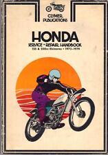 Honda CR250, MT250, MR175, CR125, MT125, Elsinor Clymer Manual 1973-1974