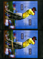 Worldwide Mint NH Souvenir Sheet Stamp Collection feat. Tiger Woods