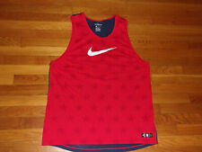 New Nike Dri-Fit Athletic Cut Usa Sleeveless T-Shirt Tank Top Mens Xl
