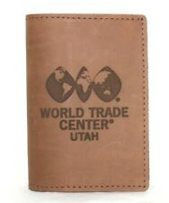 ❤️ RUGGED MATERIAL World Trade Center Utah Leather Passport Cover NEW! L@@K!