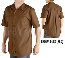 Dickies shirt SHORT SLEEVE Utility Work Shirt WS407 Dark Navy & Brown Duck