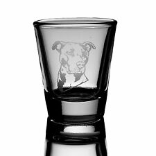 2oz Pitbull Shot Glass    dog puppy