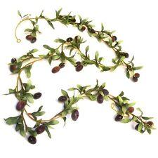 5.5ft Artificiale Ghirlanda D'OLIVA-pianta decorativa in plastica-OLIVE Ghirlande