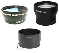 Wide Lens + Tele Lens + Tube Adapter bundle for Nikon CoolPix P500 Camera
