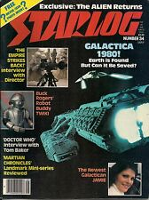 Starlog No.34 1980 TOM BAKER DOCTOR WHO, GALACTICA 1980,STAR WARS,FELIX SILLA