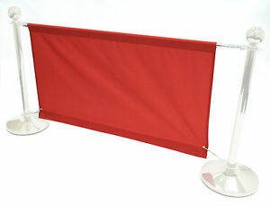 BANNERS ONLY, 1.4 meter red banners for our cafe barrier systems, shop banners