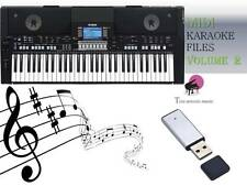 MIDI File Karaoke USB stick for PSR S650 S670  NEW Volume 2