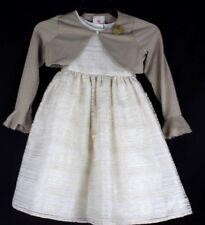 Marmellata Niñas Vestido Oro Metálico con Suéter Poliéster Talla 6