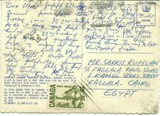 1960's Centennial post card to CAIRO EGYPT with receiver Canada