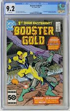 S925. BOOSTER GOLD #1 by DC CGC 9.2 NM- (1986) 1st App. of BOOSTER GOLD & SKEETS