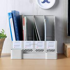 DIY Home Office Paper File Document Holder Desk Stationery Storage Organizer