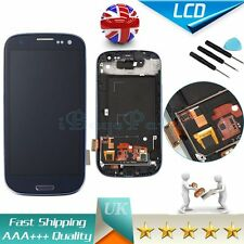 For Samsung Galaxy S3 I9300 9305 Blue LCD Touch Screen Digitizer Display & Frame