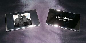 Personalised credit card holder business Photo logo text gift protect father day