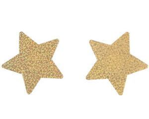 Sexy Gold Glitter Star Breast Nipple Covers Stickers Burlesque Pasties Lingerie