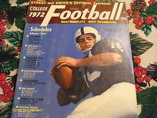 Street & Smith College Football Magazine 1972 Annual Yearbook John Hufnagel