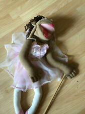 Melissa & Doug Ballerina Puppet Pink Full Body With Detachable Wooden Rod 23""
