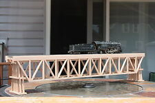 """S Gauge handmade wood trestle bridge 36 3/8 """" long w/ bents for American Flyer ."""