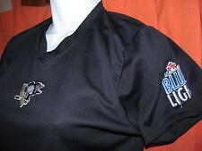 PITTSBURGH PENGUINS/ Labatt Blue beer embroidered sport shirt Juniors M Medium