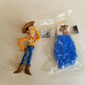 General Mills Toy Story Woody Spoon Holder Thinkway Pixar PVC Plastic New Lot 2