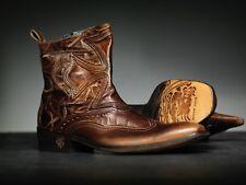 NEW !Mark Nason AMBEROOM Dragon Rock Boots US 9 Distressed Brown ()