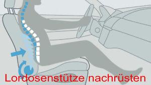 Lordosenstütze / Lendenwirbelstütze nachrüsten unter Bezug Pneumatisch