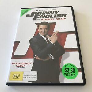 Johnny English Strikes Again EX RENTAL DVD Region 4 Rowan Atkinson