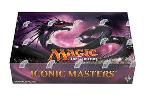 MTG ICONIC MASTERS  Booster Box Factory Sealed English 24 packs Magic !!
