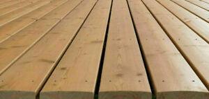 Douglasie bombiert KOMPLETTSET 4 m Terrassendielen Holz Diele Lärche farben