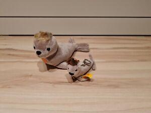 Steiff Seehund Robbe, 111068 und 111167, Schlüsselanhänger, UNBESPIELT, wie NEU