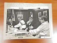 Vtg AP Wire Press Photo George Bush, Dick Cheney, Dan Quayle, William Webster