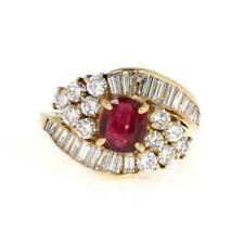 18k Yellow Gold 2.64ct Diamond & Ruby Cocktail Ring LIQUIDATION!