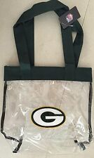 Green Bay Packers Forever Collectibles Clear Tote Bag New!
